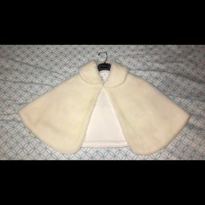 Jackets & Blazers - Ivory Winter Cape